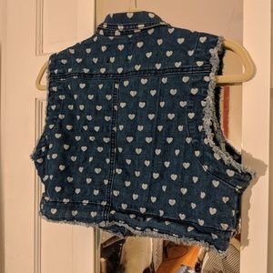 dELiA*s Jackets & Coats - dELiA*s Denim Jacket Vest Heart Print Size XL